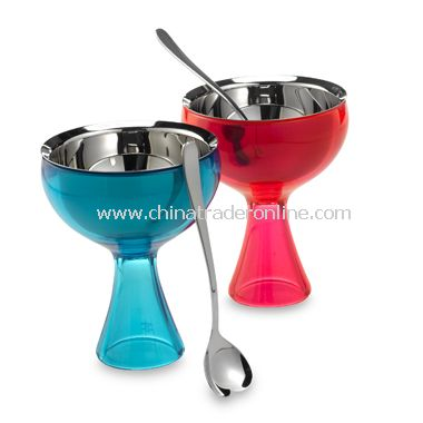 Big Love Ice Cream Bowl And Spoon by Alessi from China