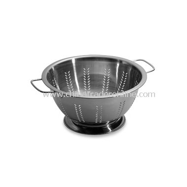 Amco Stainless Steel Wheat Pattern Berry Colander