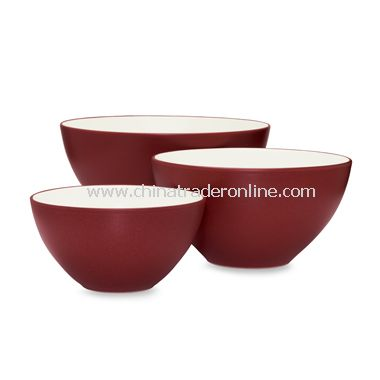 Noritake Colorwave Raspberry Bowls (Set of 3)