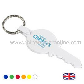 Recycled Key shaped Key Fob