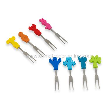 Stainless Steel Snack Marking Forks (Set of 8)
