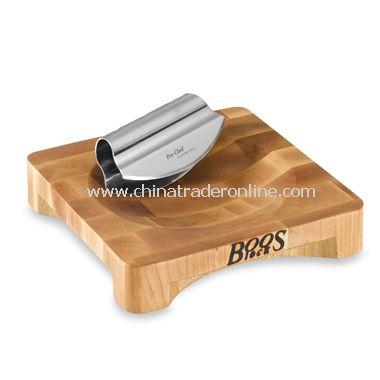 John Boos & Company Mezzaluna Board with Knife