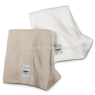 Aquis Waffle Weave Hair Towels