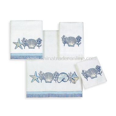 Avanti Catalina White Bath Towels, 100% Cotton