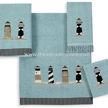 Avanti Lighthouses Mineral Bath Towels, 100% Cotton