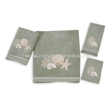 Avanti Oceanside Moss Bath Towels, 100% Cotton