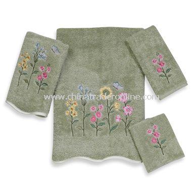 Avanti Premier Country Floral Sage Bath Towels, 100% Cotton