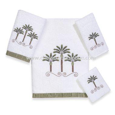 Avanti Premier Palm Beach White Bath Towels, 100% Cotton