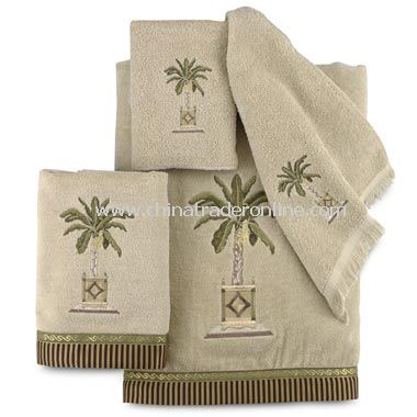 Banana Palm Linen Towels by Avanti, 100% Cotton