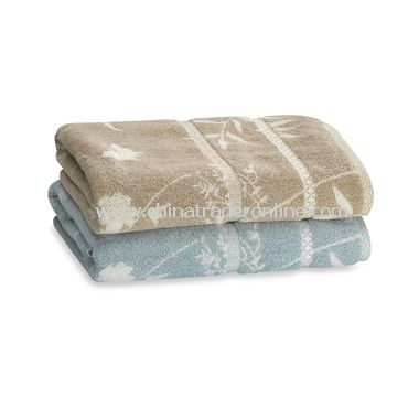 Butterfly Bamboo Bath Towels, 100% Cotton
