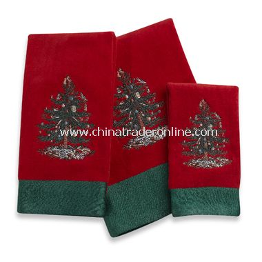 Christmas Tree Towels, 100% Cotton,Tree Hand Towels, Set of 2 ...