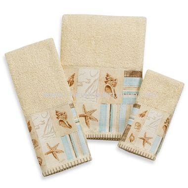 Croscill Sea Farer Bath Towels, 100% Cotton