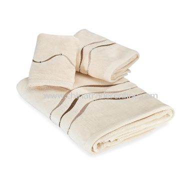Dante Champagne Bath Towels by Croscill, 100% Cotton