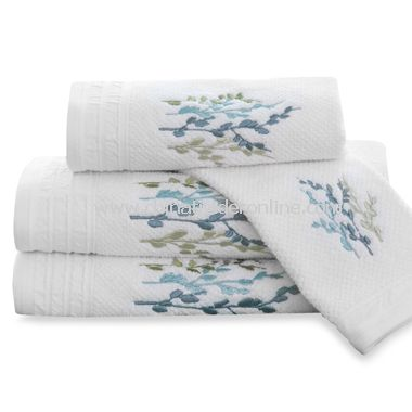 DKNY Spring Tree Bath Towels, 100% Cotton
