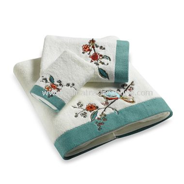 Embroidered Bath Towel Collection, 100% Cotton from China