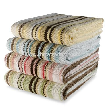 Etched Stripe Towels by DKNY, 100% Cotton