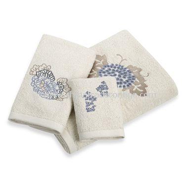Fleur Chinon Bath Towels, 100% Cotton