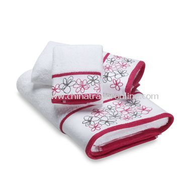 Graffiti Floral Bath Towel Collection from China