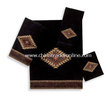 Mohave Black Towels by Avanti, 100% Cotton
