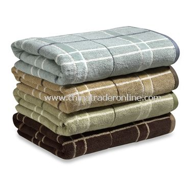 Nautica Plaid Bath Towels, 100% Cotton