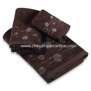 Pizzazz Chocolate Bath Towels by Croscill, 100% Cotton