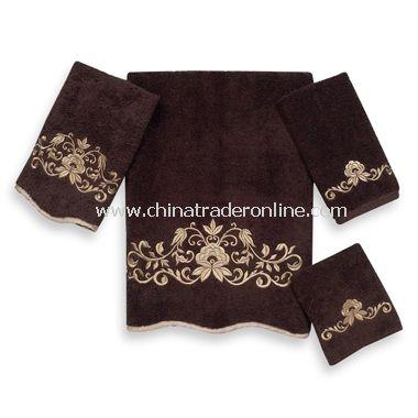 premier venetian scroll java bath towels by avanti 100 egyptian cotton - Decorative Bath Towels