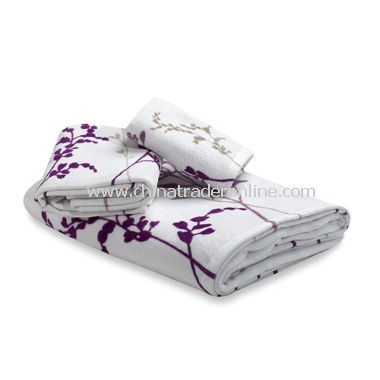 Reflections Purple Bath Towels, 100% Cotton