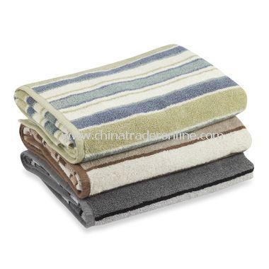 Royal Velvet Duet Stripe Bath Towel Collection, 100% Cotton