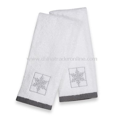 Snowflake Hand Towels, Set of 2