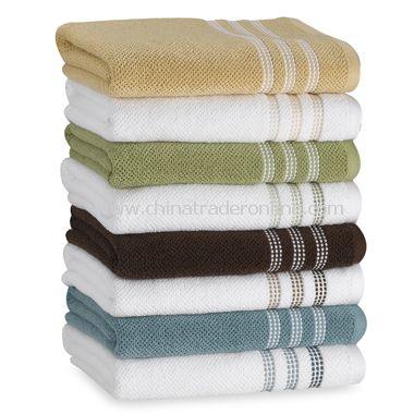 Urban Pique Bath Towels by DKNY, 100% Cotton