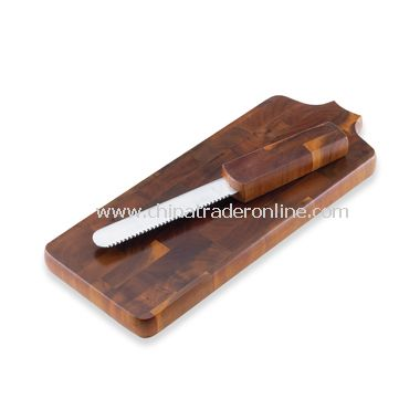 Dansk Belongings Wooden Breadboard with Knife