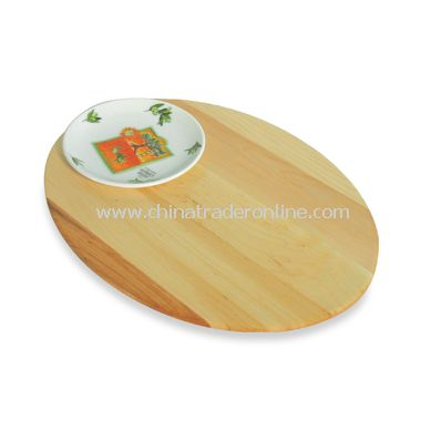 J.K. Adams Co. Bread and Oil Single Dish Board from China