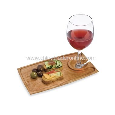 J.K. Adams Rectangle Wine & Dine Plate from China