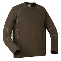 Mens Long Sleeve Flatlock Bamboo Crew