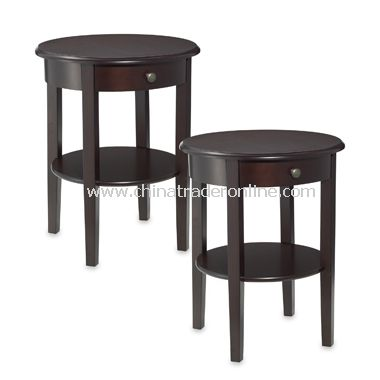 Charleston Round Side Tables (Set of 2