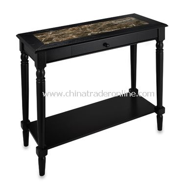 French Country Console Table With Marble Style Finish
