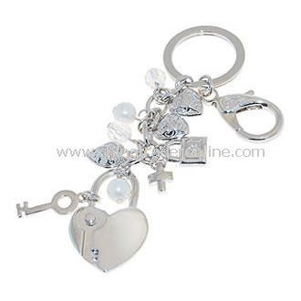 Key to the Heart Charm Keyring