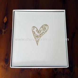 Large Wedding Photo Album Filigree Heart Gold
