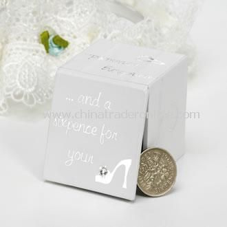 Lucky Wedding Sixpence for Brides Shoe