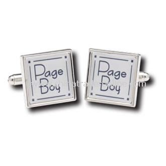 Pageboy Cufflinks with Personalised Box