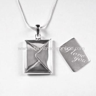Silver I Love You Love Letter Necklace