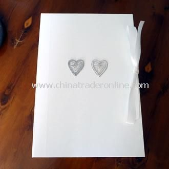Wedding Keepsake Box Silver Beaded Hearts
