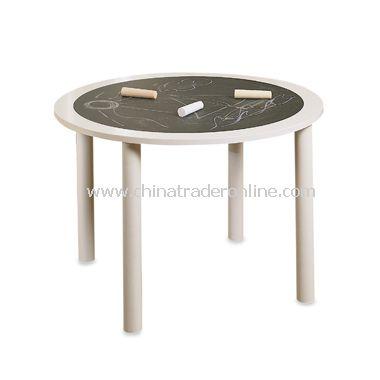 White Chalkboard Table