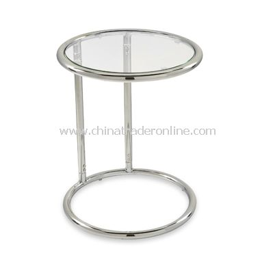 Yield Circular Glass Top And Chrome Side Table From China