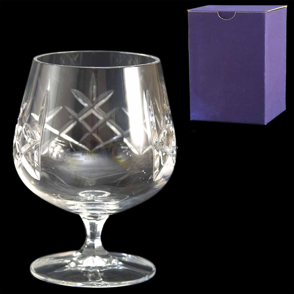 Cut Crystal Brandy Glass Single