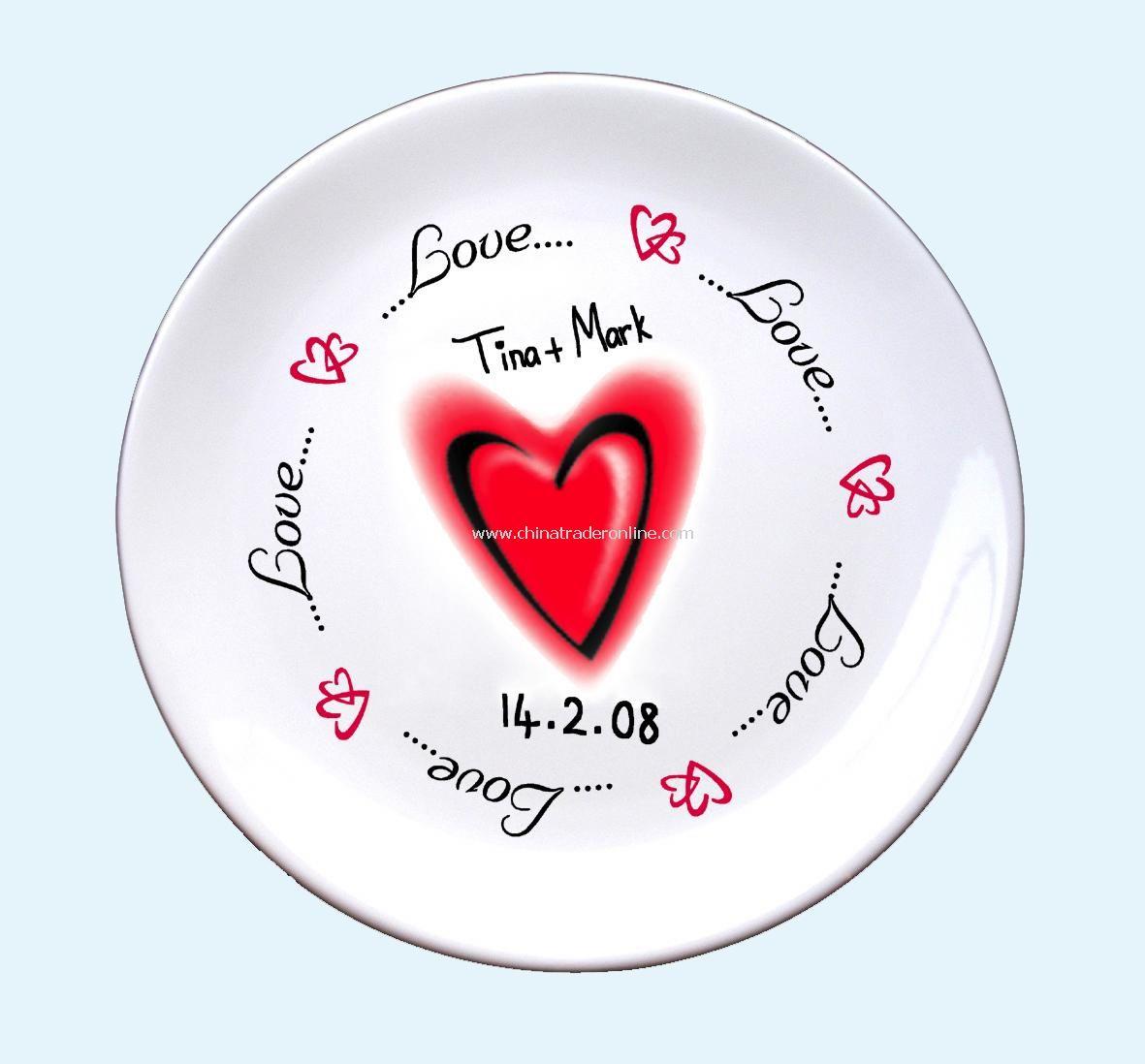 Love & Heart plate