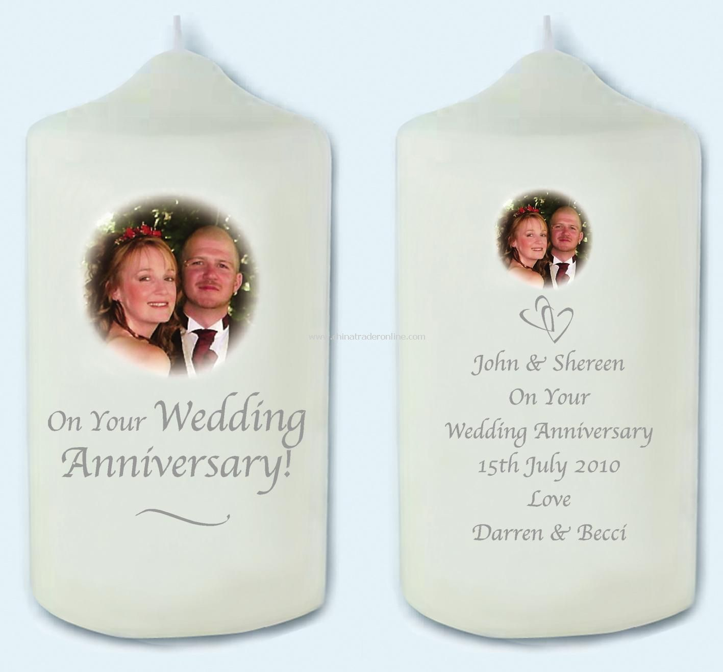 Photo Anniversary Candle