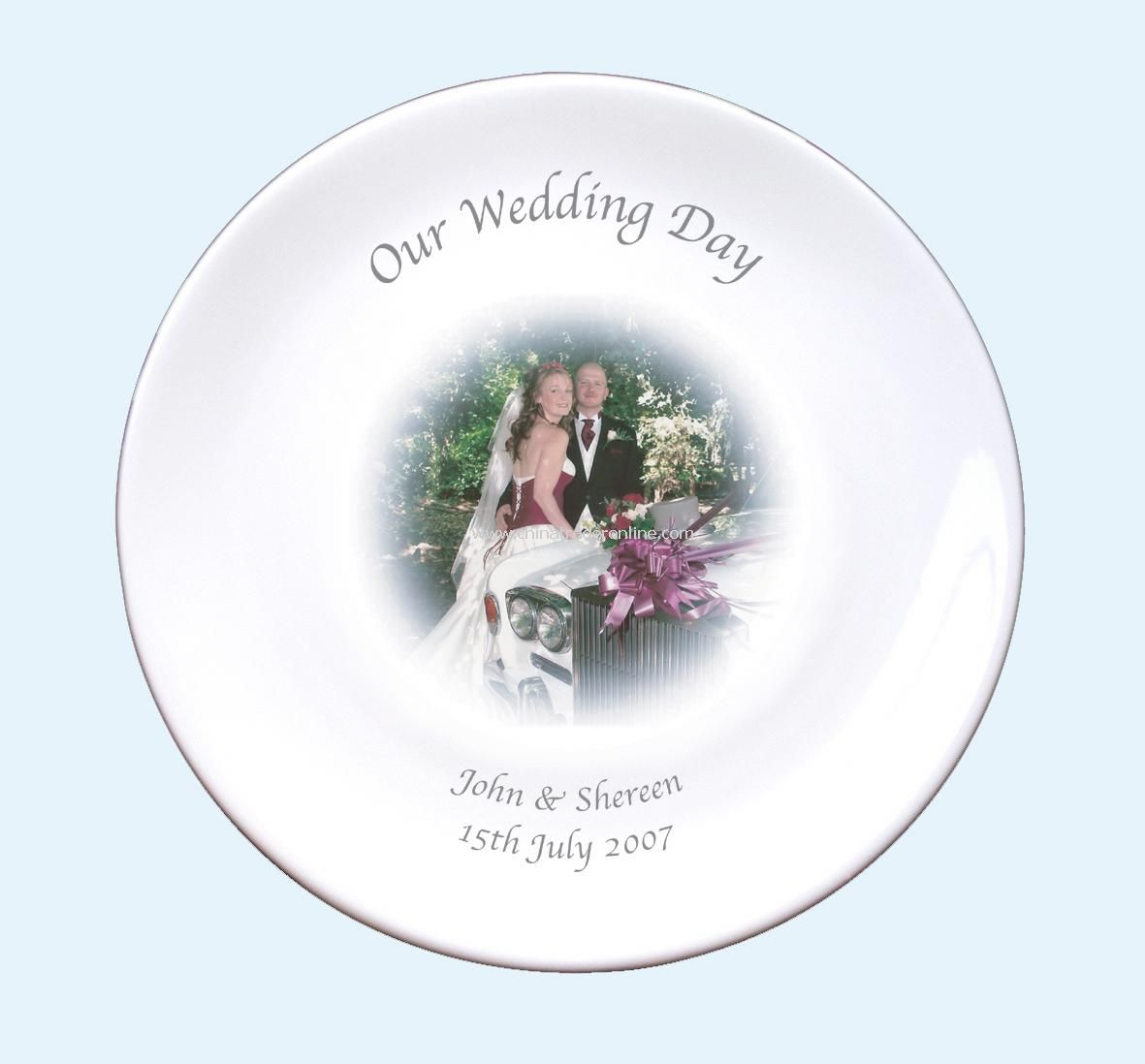 Photo Wedding Plate