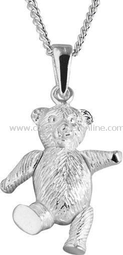Sterling Silver Teddy Necklace
