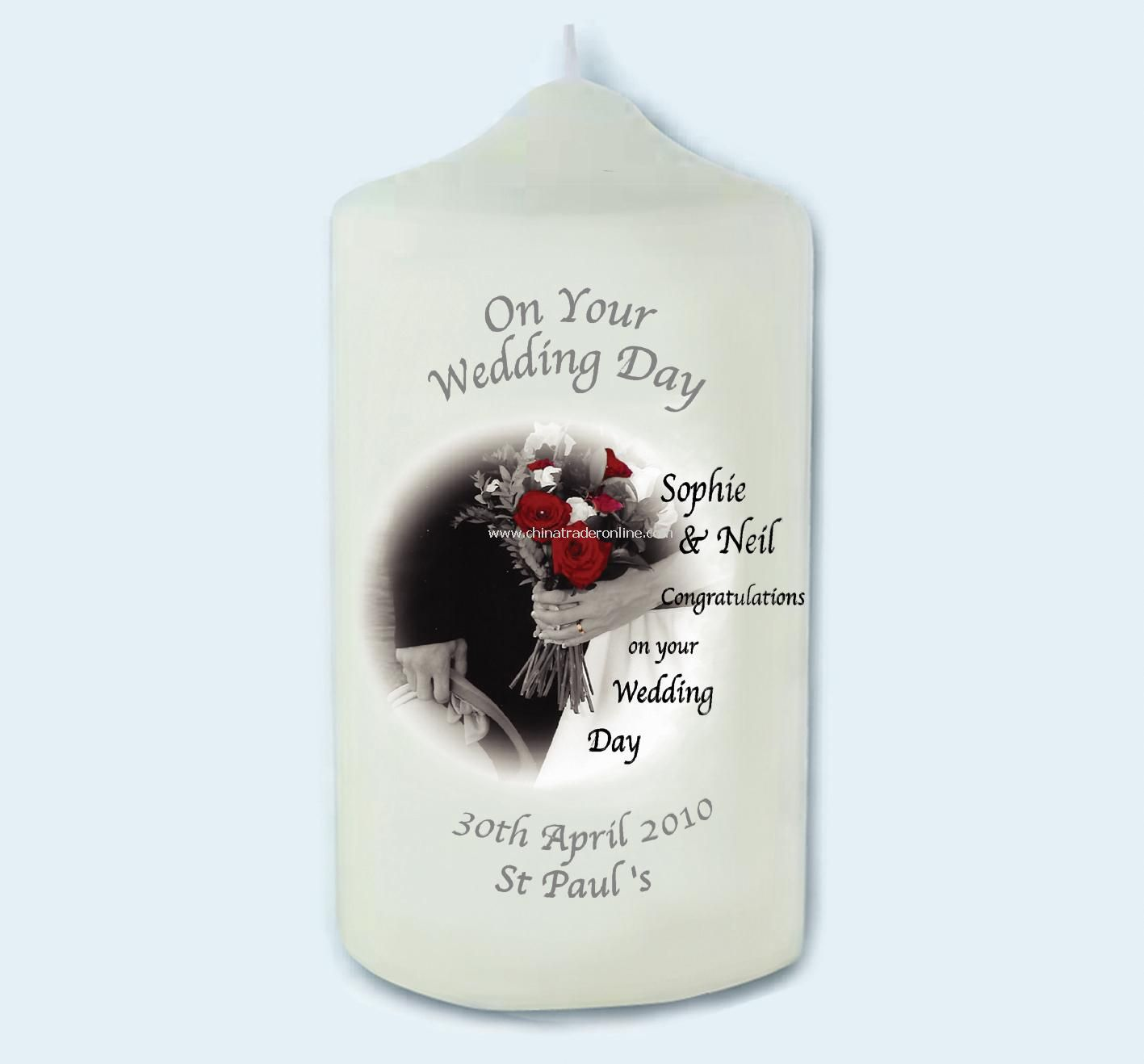 Wedding Day Bouquet Candle